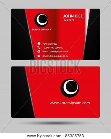 Red Business cards template