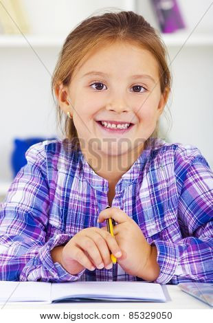 Smart kid happy