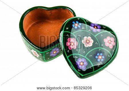 Open Heart Shaped Box