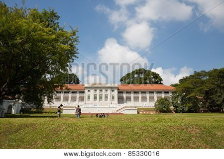 SINGAPORE - JANUARY 28, 2015: The Legends Fort Canning Park comprises the restoration of a former British Military structure which is located in central the city. Building built by the British in 1926