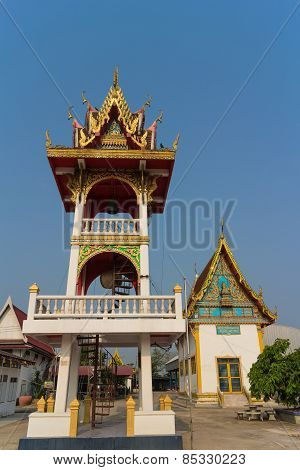 bell tower with sky background