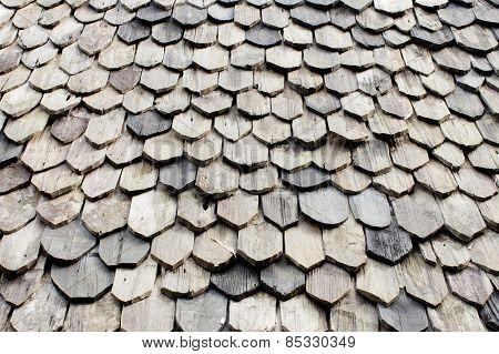 Diagonal Detail Of Brown Wood Roof