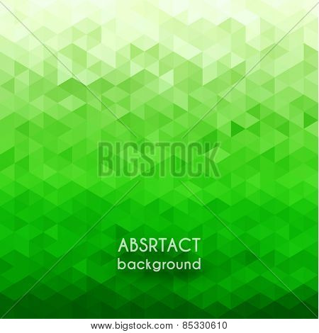 Abstract green geometric background - eps10