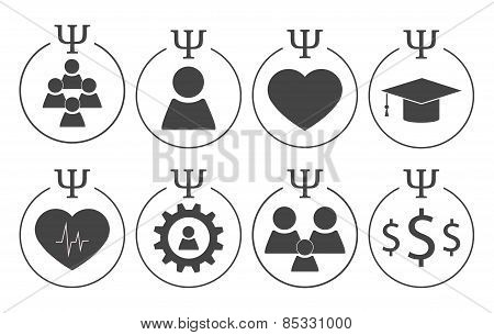 Set of psychology symbols
