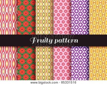 fruity pattern 6 style is Strawberry,Watermelon, pineapple, pomegranate, grapes, oranges