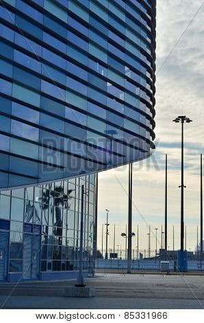 Modern glass building, abstract background