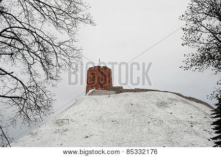 Gediminas Castle Tower On Hill In Vilnius