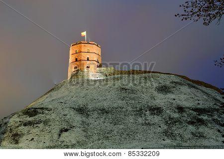 Tower Of Gediminas Castle, Symbol Of Vilnius City