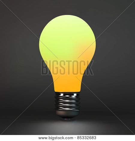 Lightbulb idea symbol. 3d vector illustration. Can be used for your business presentation.