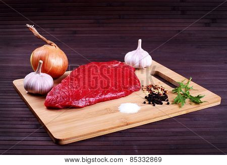 Grilled Meat - Stock Image