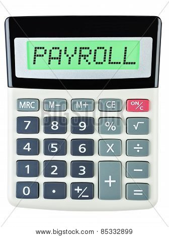 Calculator With Payroll