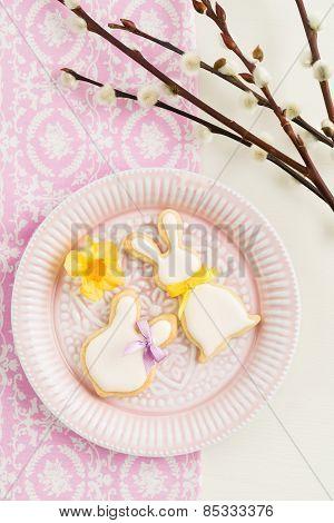Easter bunny sugar cookies