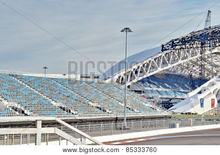 Russian Formula 1 Grand Prix tribune in Sochi