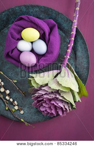 Easter floral still life