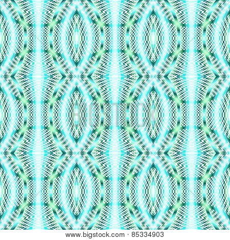 Design Seamless Colorful Movement Illusion Checked Mosaic Pattern