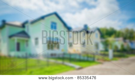 Abstract blur background of house exterior