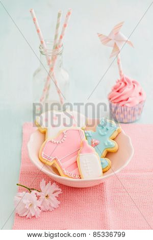 Bayb Shower Cupcake And Cookies