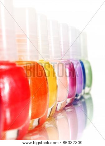 Rainbow Of Nail Polish
