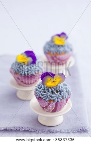 Three Mini Cupcakes