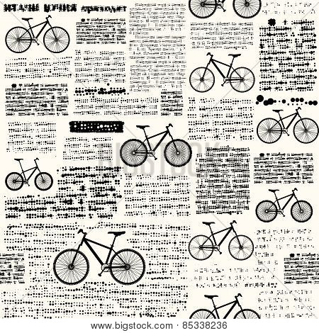 Newspaper with different bicycles.