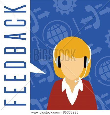 Vector customer service concept. Feedback.