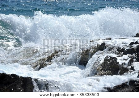 Splashing Sea Wave