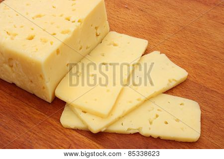 Piece Of Cheese Sliced