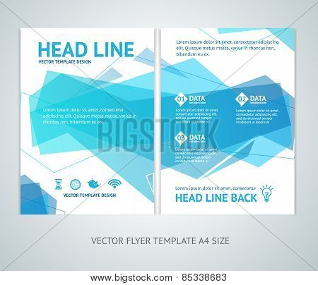 Vector abstract  geometric wave brochure flyer design templates