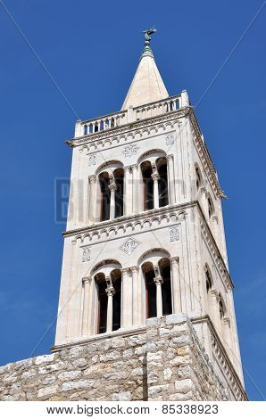 Bell Tower Of Old Church In Zadar, Croatia