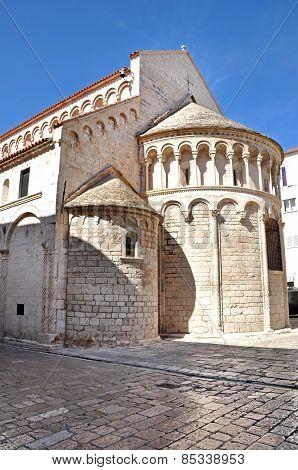 Saint Donatus Romanesque Style Church. Zadar, Croatia