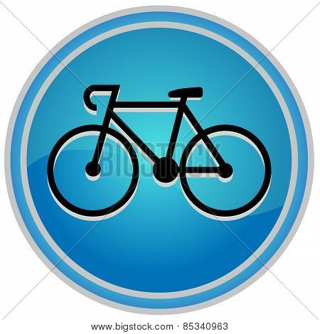 round icon bicycle