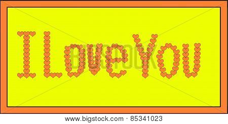 Orange I Love You on Yellow