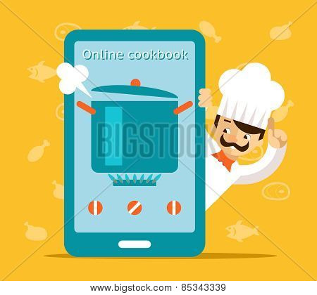 Online cookbook. Search for recipes in web