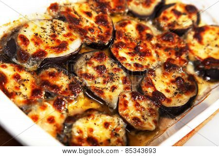 Eggplants With Mozzarella And Basil