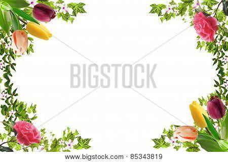 Floral Frame, Spring Mood