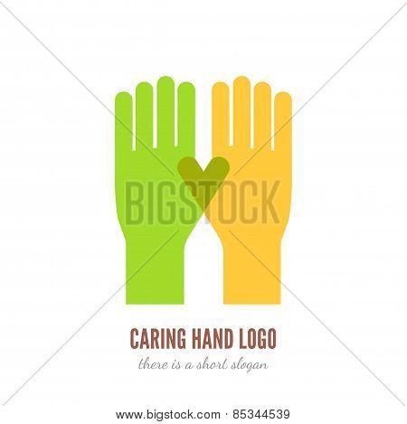 Caring hand logo