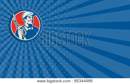 Business Card Gas Pump Attendant Jockey Nozzle Circle