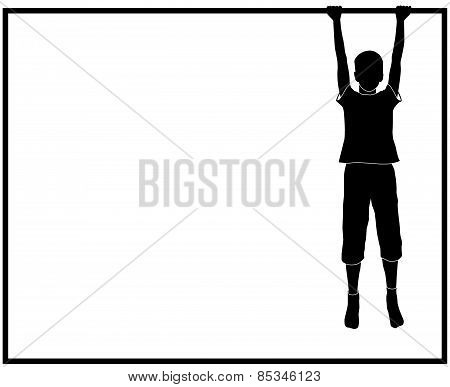 silhouette of hanging boy