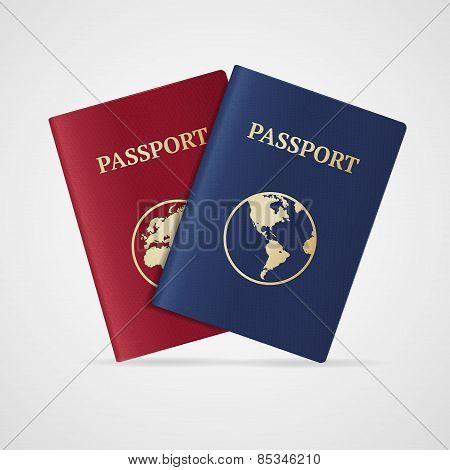 Vector passport set. Flat Design