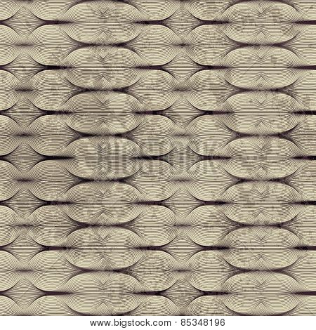 Guilloche pattern with grunge effect.