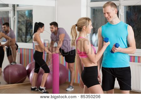 Flirting During Fitness Classes