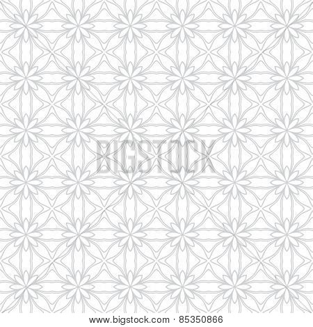 Abstract vector background Geometric flower Seamless pattern