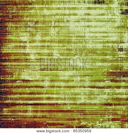 Grunge old texture as abstract background. With different color patterns: yellow (beige); brown; green