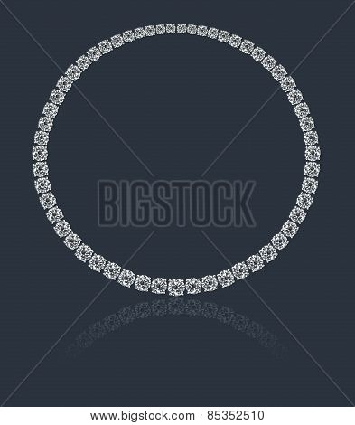 Magnificent round diamonds necklace