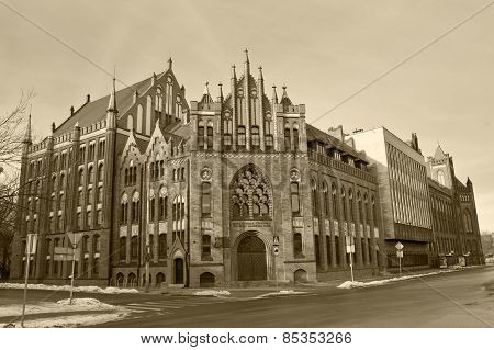 Library Of Polish Academy Of Science in Gdansk, Poland