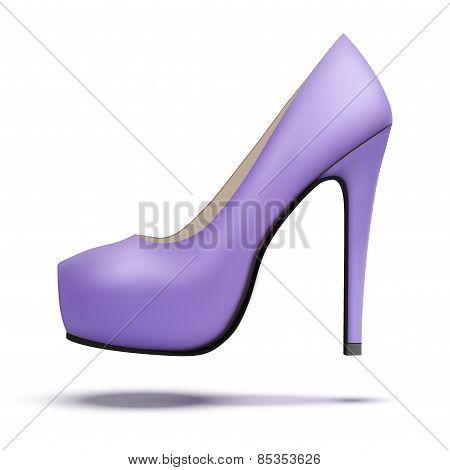 Purple vintage high heels pump shoes