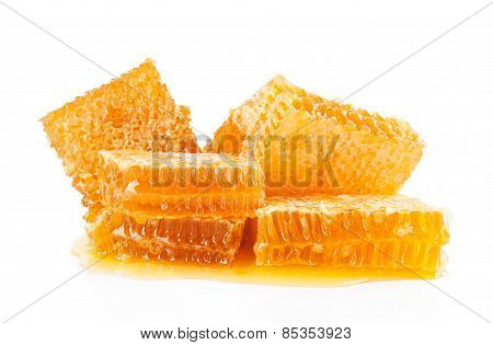 Honeycombs Isolated On A White Background