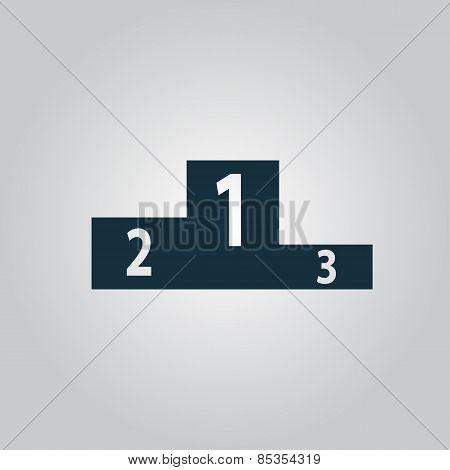 Pedestal icon. Flat design style modern vector illustration.