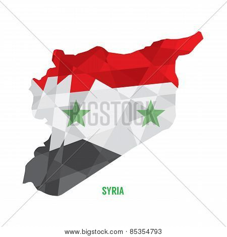 Map Of Syria.