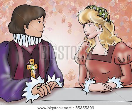 Prince and princess, happy ending